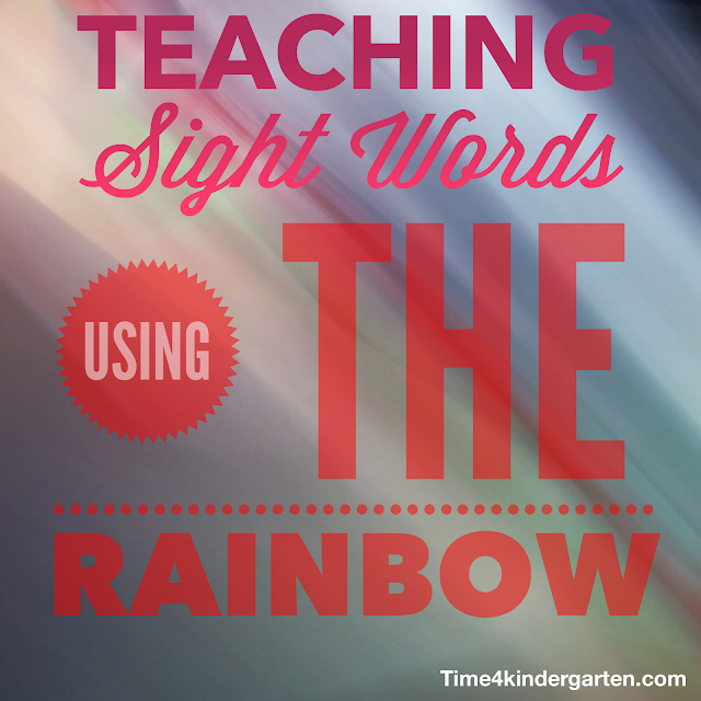 Teaching Sight Words- Using the Rainbow