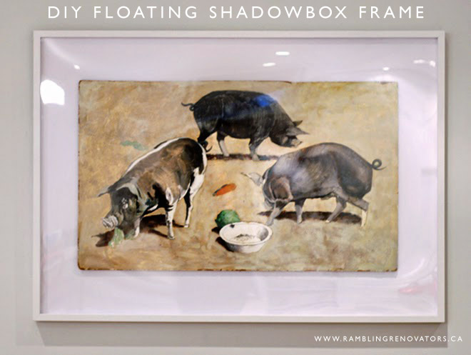 diy floating shadow box frame ramblingrenovators.ca