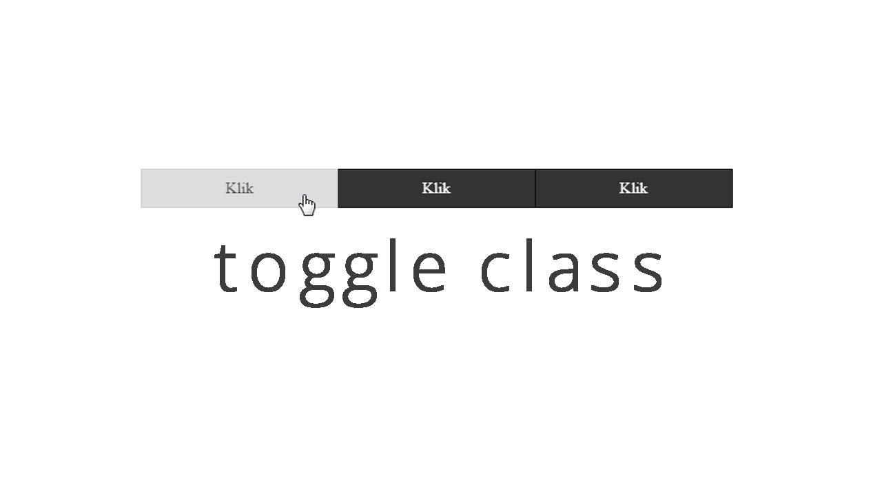Toggle Class Dengan Javascript