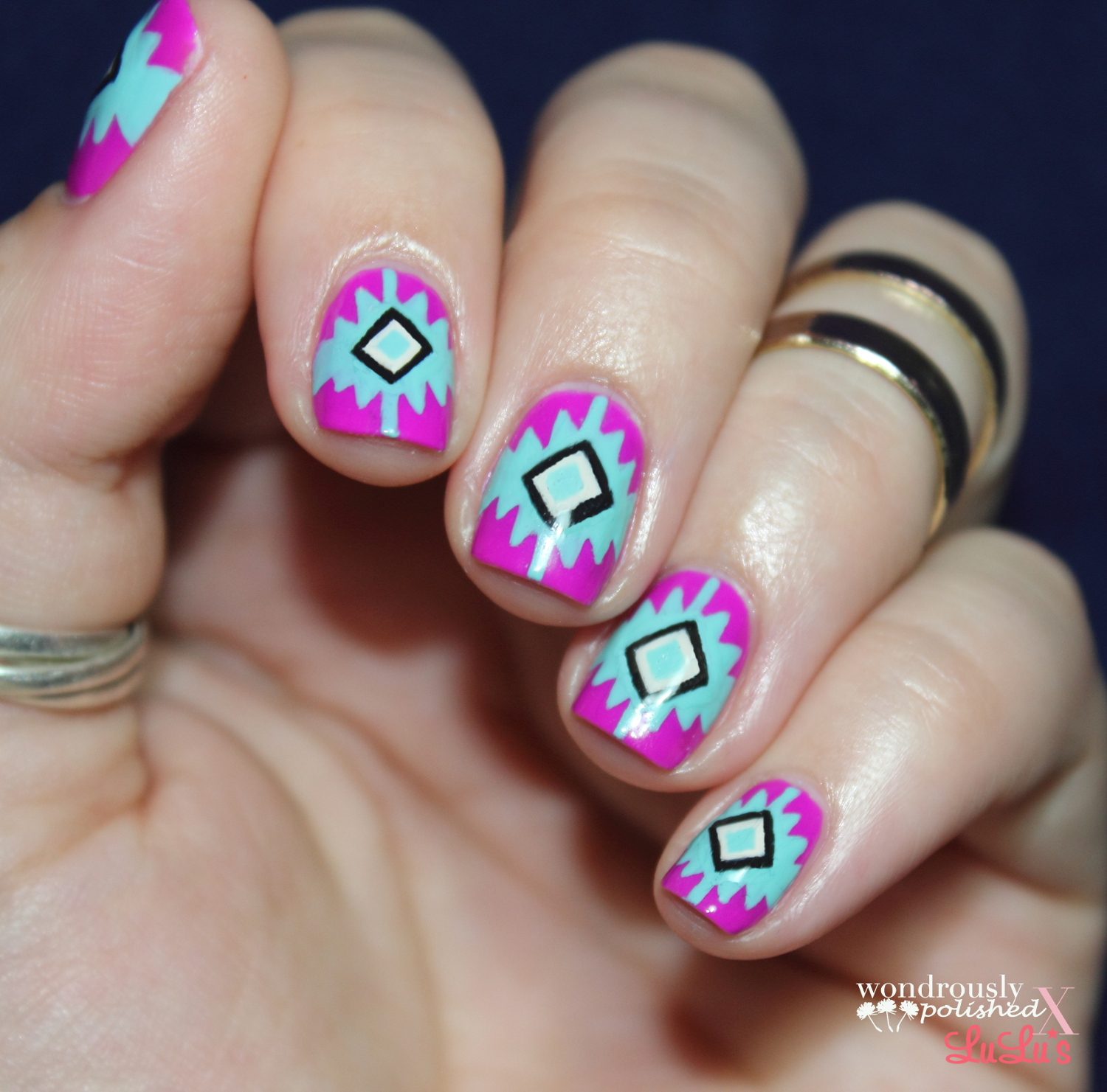 Tribal Nail Art: Wondrously Polished: Southwest Inspired Mani Monday