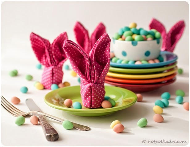 [DIY] Awesome Easter Bunny Napkin Idea