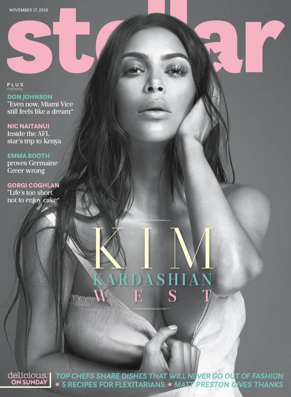 Kim Kardashian stars on the cover of Sunday's Stellar Magazine