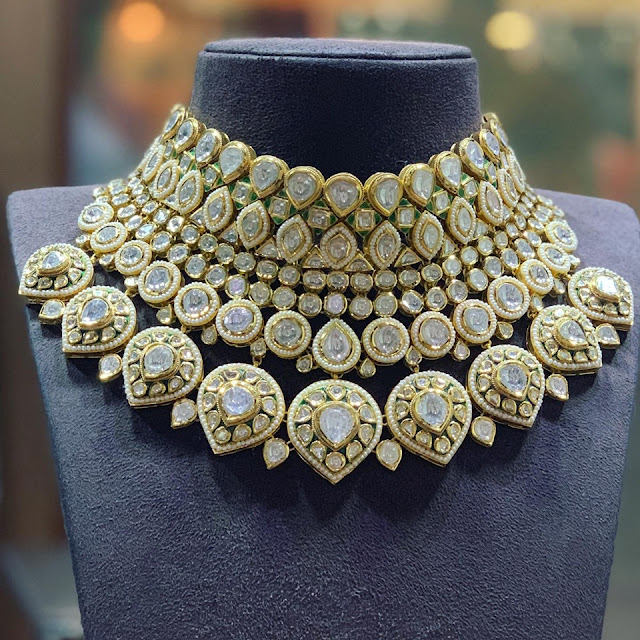 Polki Chokers by Satyanarayana Jewellers