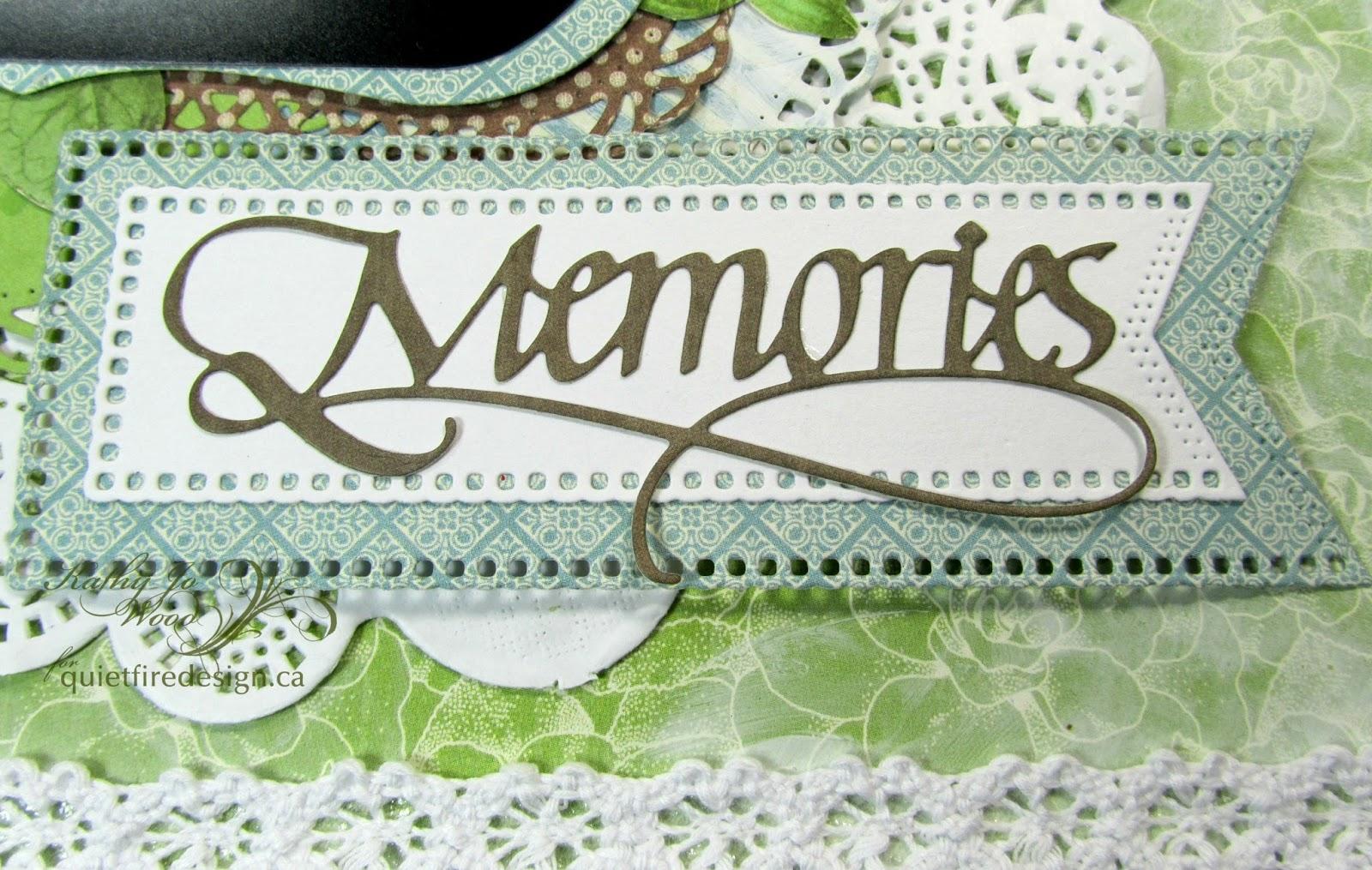 How to scrapbook memories -  Memories Scrapbook Page