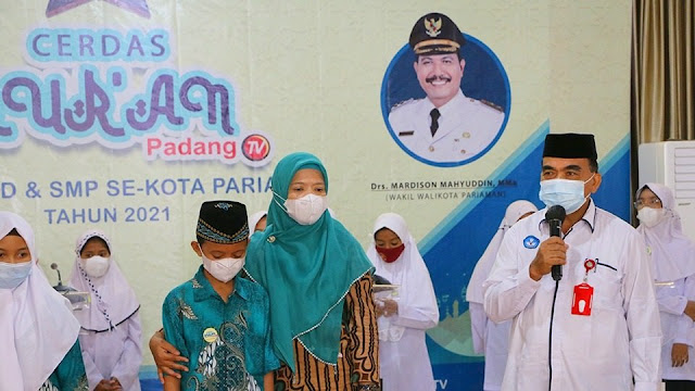 Lomba Cerdas Alquran tingkat pelajar Pariaman disiarkan live di Padang TV