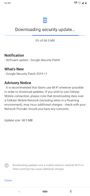 Nokia 7.2 receiving November 2019 Android Security patch