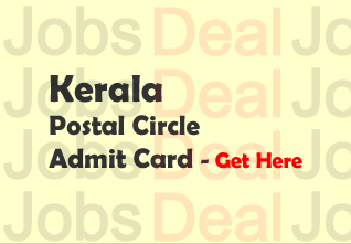 Kerala Postal Circle Admit Card 2017