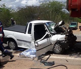 Colisão entre veículos deixa uma vítima fatal na BR-110 em Monteiro