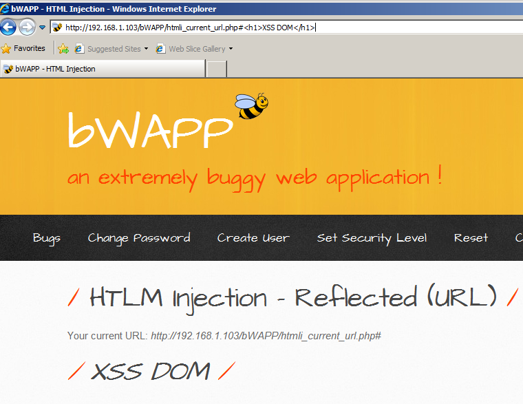 bWAPP HTML Injection - (ALL) | penthusiasts