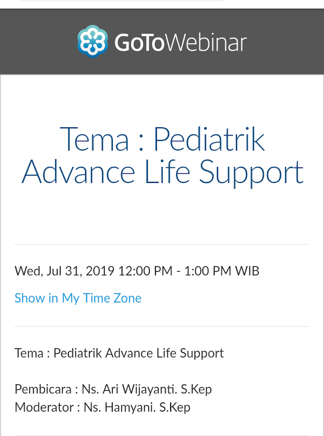 Free Webinar: Pediatrik Advance Life Support (Rabu, 31 Juli 2019/12.00-13.00)