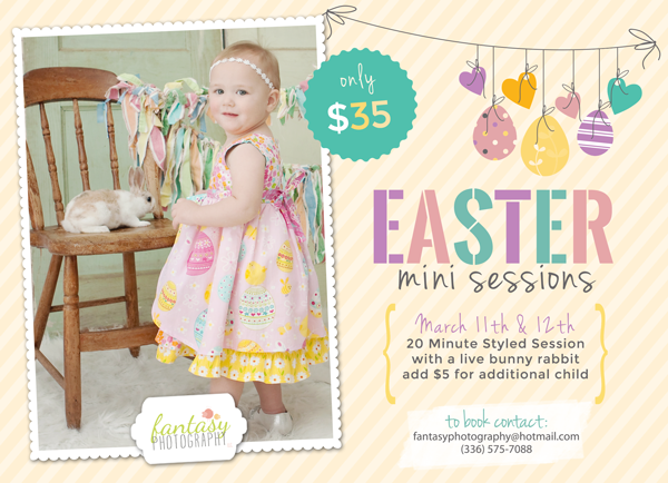 easter portrait sessions winston salem triad kernersville nc