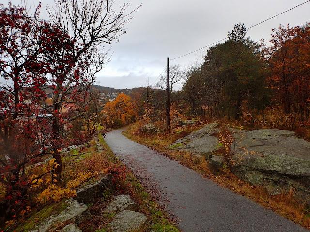 Podejście na wzgórze Prestasen w Sandefjord