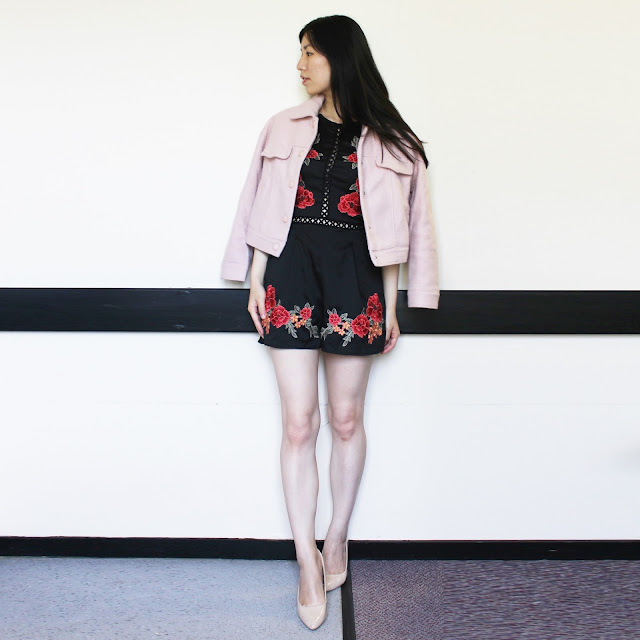 Short Wool Blend Coat gamiss, Short Wool Blend Coat blog review, gamiss blog review, gamiss coat review blog, gamiss shop review, pink wool coat outfit, pink pea coat wool