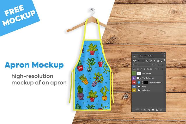 Apron Mockup PSD free download