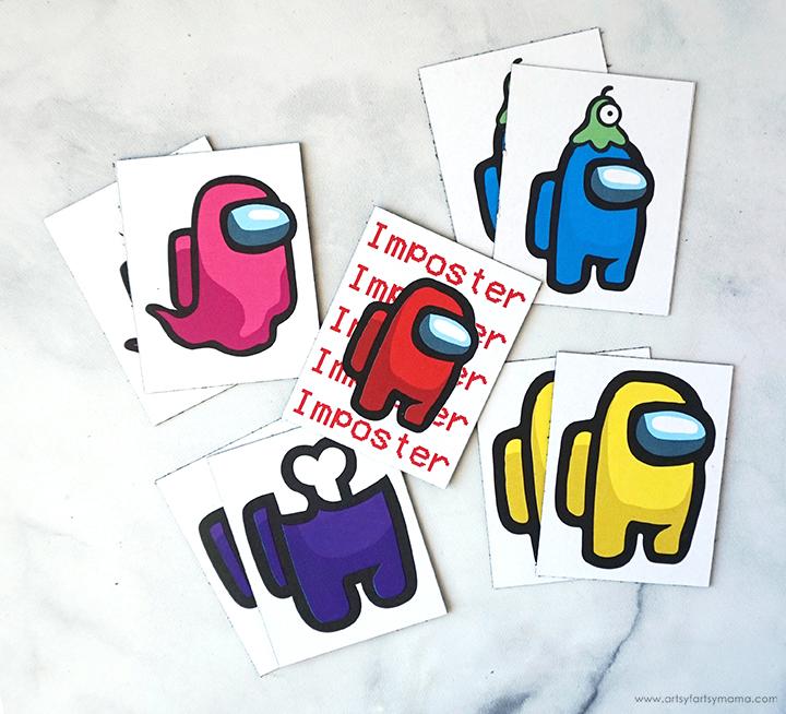 Free Printable Among Us Card Game