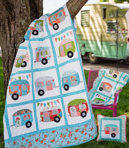 Cute Campers Quilt Free Tutorial designed by Jenny of Missouri Quilt Co