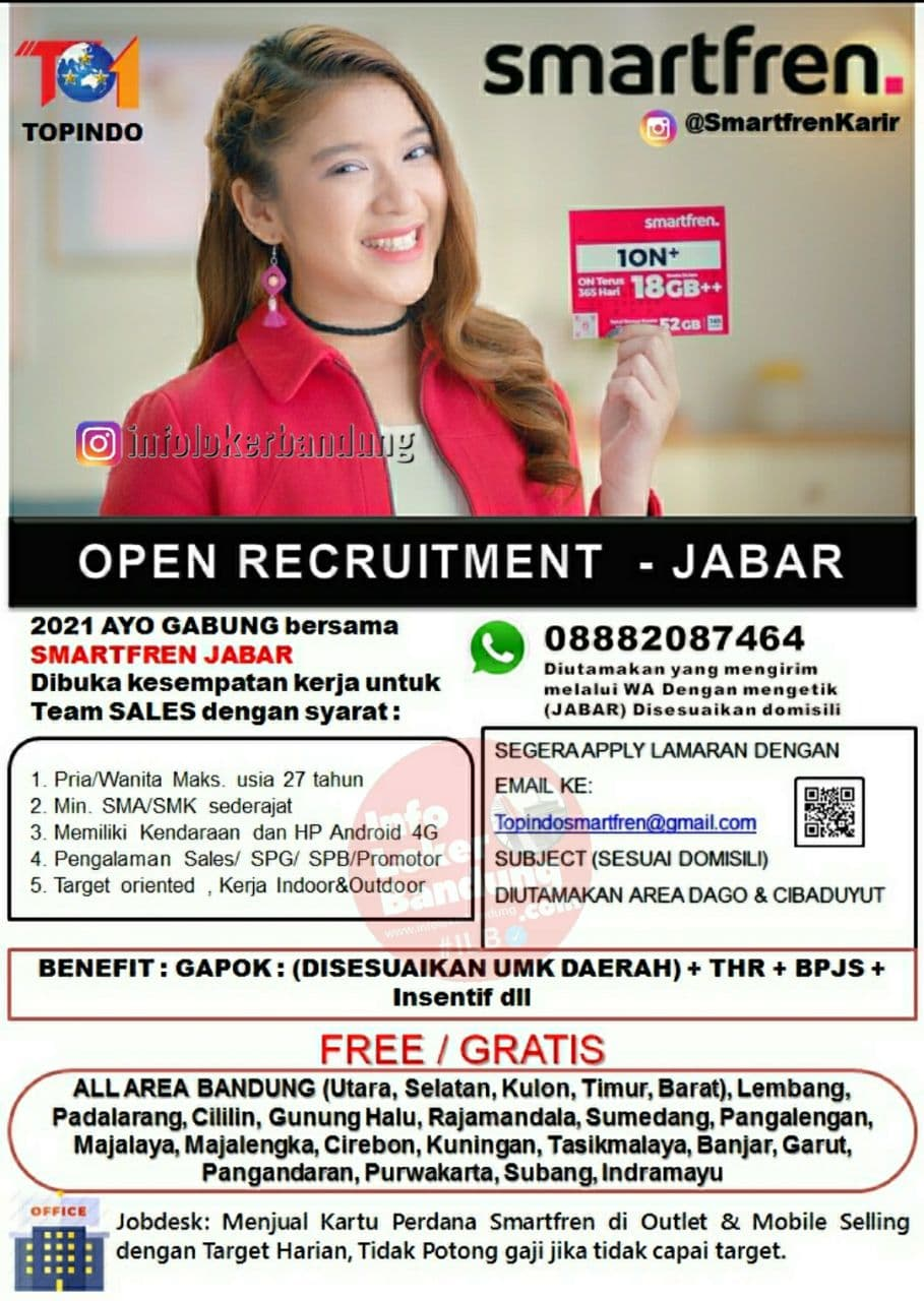 Lowongan Kerja Smartfren Bandung September 2021