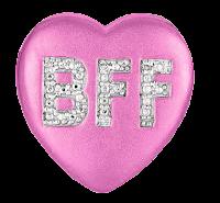 coração bff em png