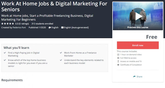 [100% Free] Work At Home Jobs & Digital Marketing For Seniors