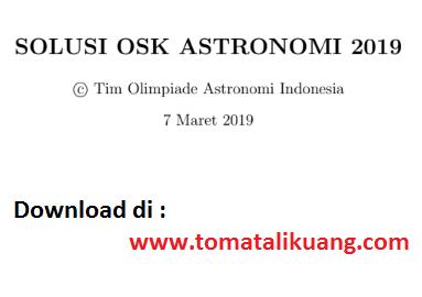 pembahasan osk astronomi sma 2019; solusi osk astronomi sma 2019; www.tomatalikuang.com