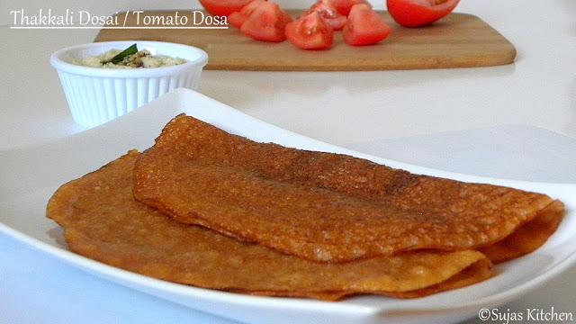 Thakkali Dosai, Tomato Dosa