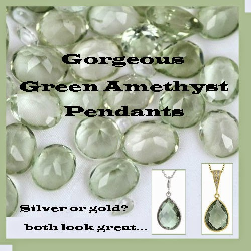 green amethysts pendants
