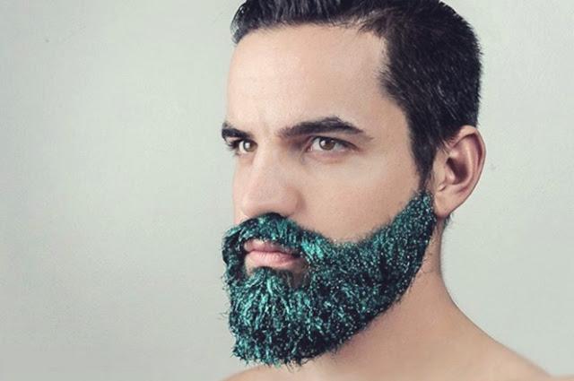 Image result for Ahora la barba lleva glitter