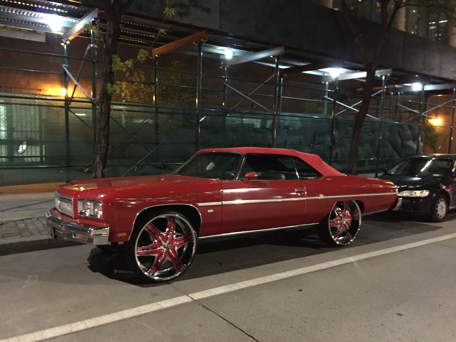 This Is A 1975 Chevrolet Caprice Convertible In What Might Be Medium Red For The Uninitiated Donk Almost Always Rear Wheel Drive