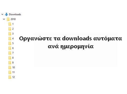 Οργάνωσε τα Downloads σου ανά ημερομηνία και αυτόματα
