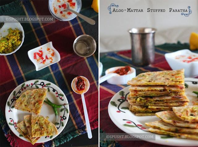 Spusht   Aloo Mattar Bharwan Paratha   Potato & Peas Stuffed Paratha