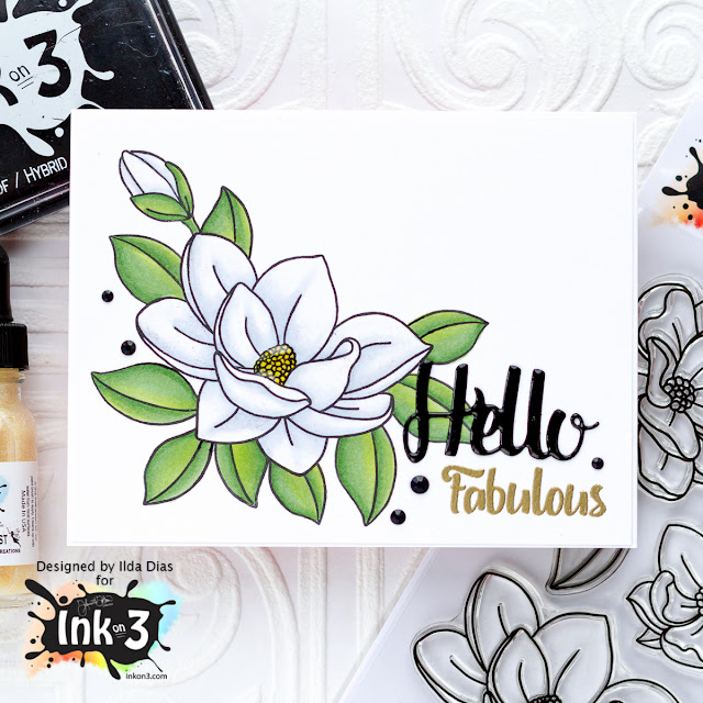 Big Bold Magnolias Blog Hop | Ink on 3 New Release by ilovedoingallthingscrafty.com