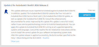 Update 2 for Autodesk Revit 2016 Direct Download Links