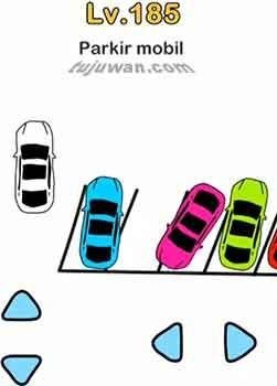 Parkir mobil jawaban brain out di level 185