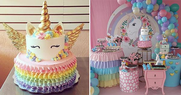42 Ideas para Decorar un Cumpleaños de Unicornios