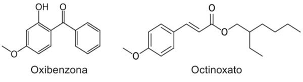 Oxibenzona Octinoxato