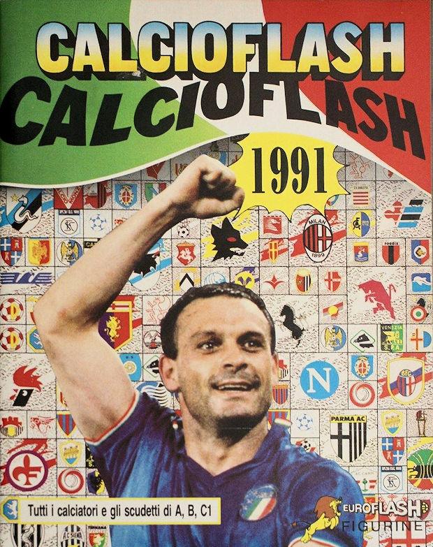 figurina CALCIATORI CALCIO FLASH 1990-91 NUMERO 272 ROMA VOLLER