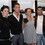 Cristiano Ronaldo with brother and Sisters