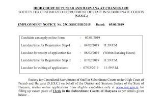 Haryana SSSC Clerk