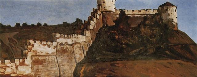 Николай Рерих - Нижний Новгород. Кремлёвские стены. 1903