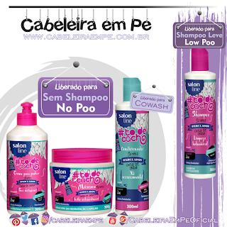 Shampoo, Condicionador, Máscara e Creme para Pentear Cheia de Onda To de Cacho - Salon Line (Shampoo Low Poo e demais produtos No Poo)