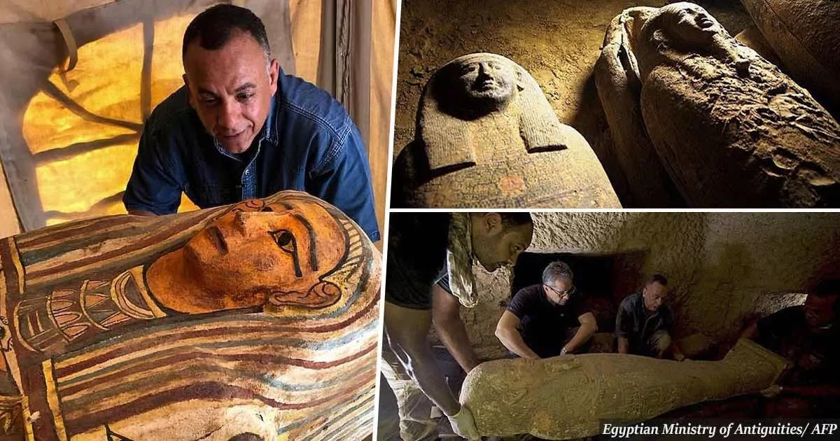 Egypt Tomb: 27 Unopened Sarcophagi Buried For Over 2,500 Years Discovered 36 Feet Below The Ground In Saqqara