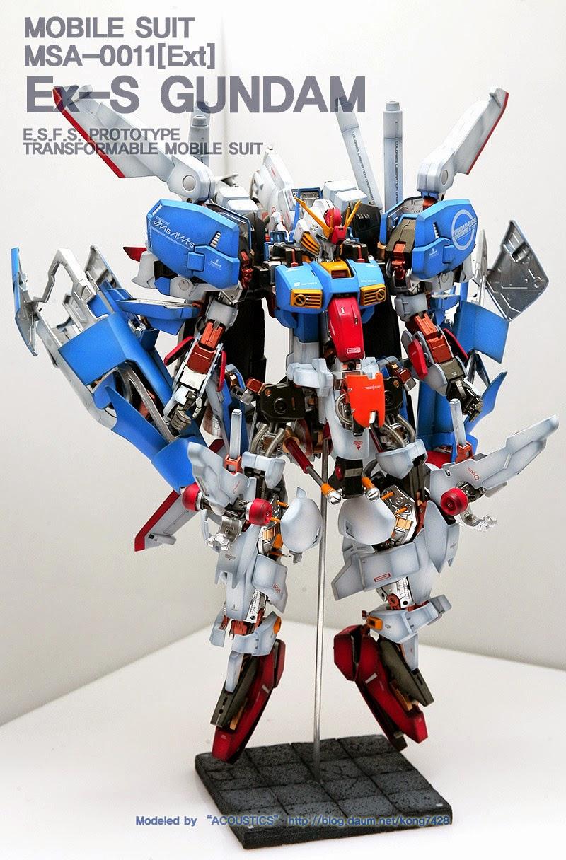 GUNDAM GUY: MG 1/100 MSA-0011 [EST] EX-S Gundam 'Open Hatch Ver.' - Customized Build