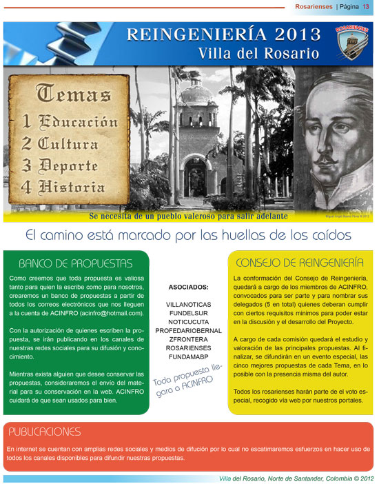 El camino está marcado por las huellas de los caídos | Rosarienses, Villa del Rosario