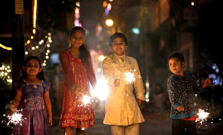 children diwali poses