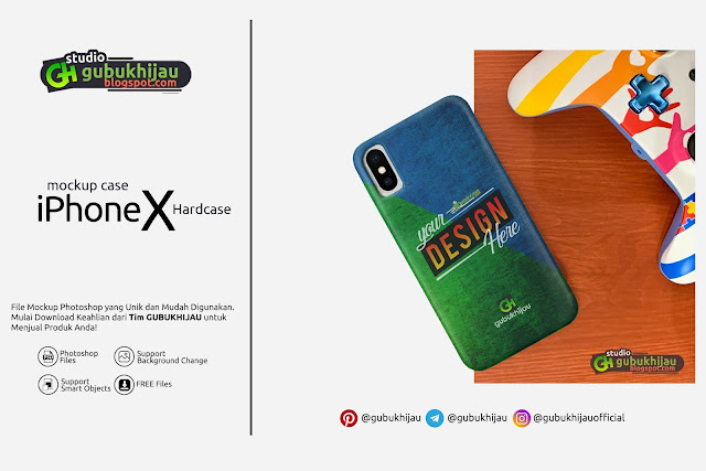 Mockup Custom Case iPhone X Hardcase