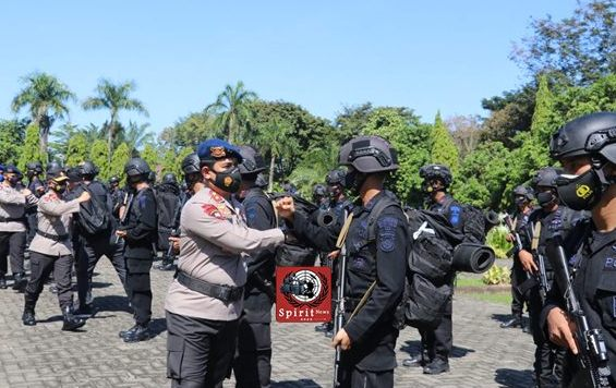 Kedatangan Personil Brimob Polda Sulsel BKO Polda Papua, Diterima Kapolda Sulsel