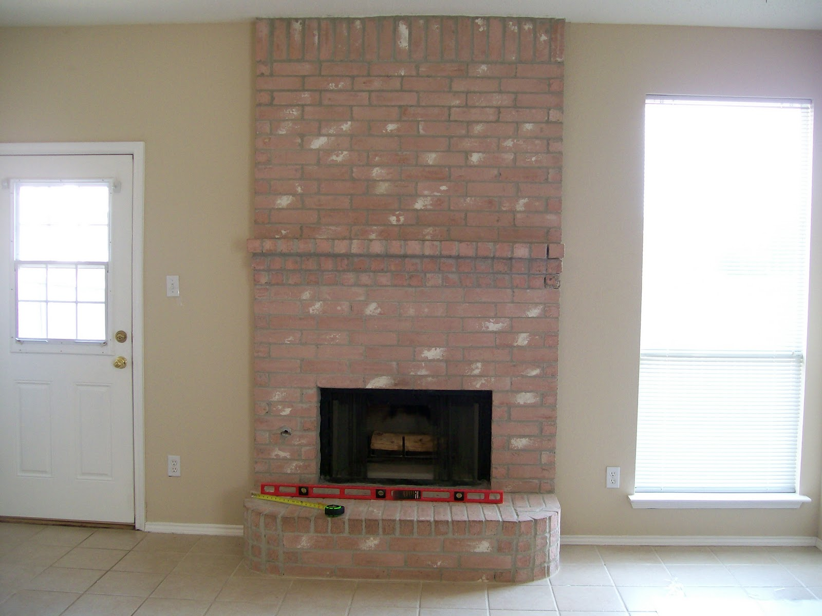 Diy Fireplace Refacing Stone Make An Easy Fireplace Refacing The Pear Tree Cottage: House Tour