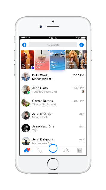 Facebook Messenger new design -sooloaded.net