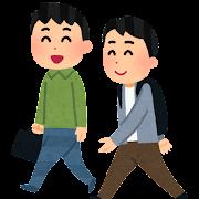 通学・通勤のイラスト(私服・男性)
