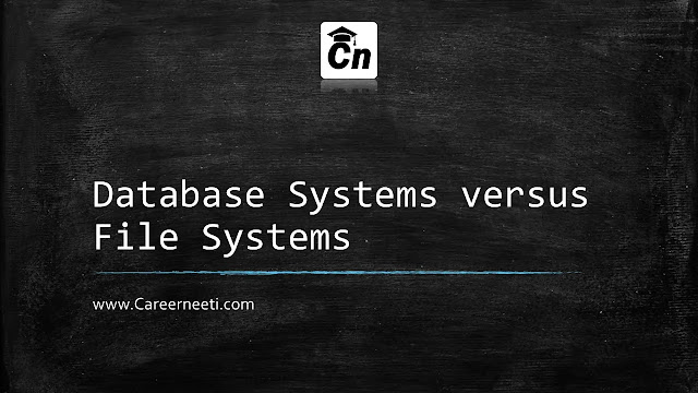 Image for Database Systems versus File Systems